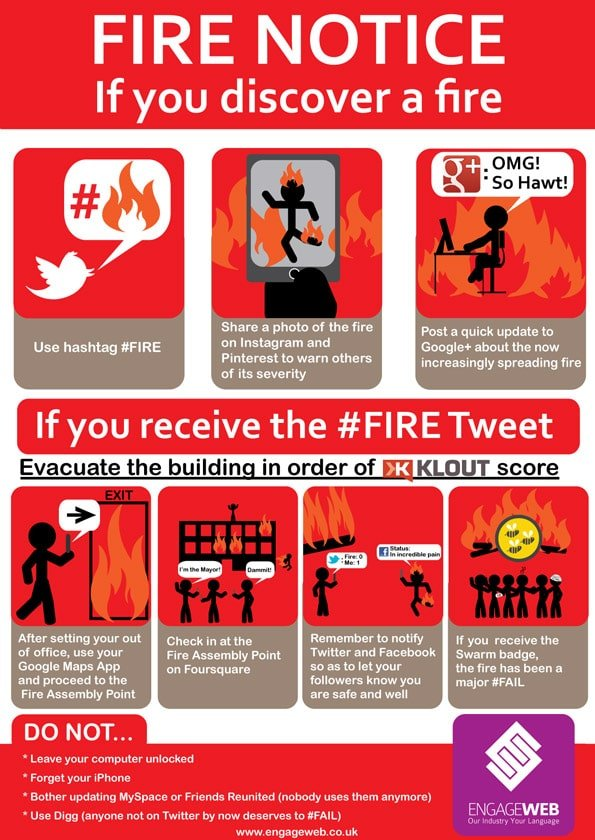 Social Network User's Fire Safety Notice