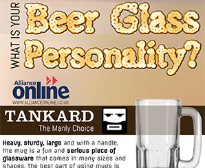 'What is your beer glass personality?' Infographic