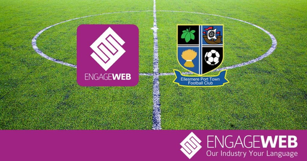 Engage Web signs sponsorship deal with Ellesmere Port Town F.C.